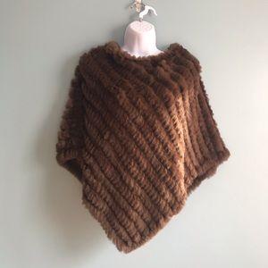 Sweaters - Rabbit Fur Poncho